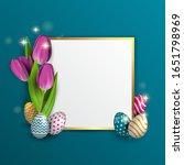 Easter Frame For Text  With A...
