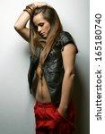 fashion photo of beautiful... | Shutterstock . vector #165180740