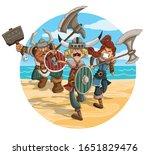 angry cartoon vikings warriors...   Shutterstock .eps vector #1651829476