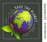 """""""save the planet"""" card for... 