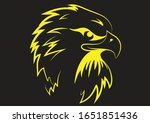 eagle tattoo design for men and ... | Shutterstock .eps vector #1651851436