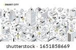 smart city concept. people... | Shutterstock .eps vector #1651858669