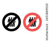 no three persons icon. simple...