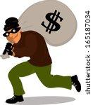 saco,bandido,preto,assaltante,desenhos animados,penal,perigo,disfarce,fuga,fugitivo,ilustração,macho,um,máscara,dinheiro