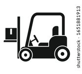 forklift icon. simple... | Shutterstock .eps vector #1651881913
