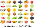 collection of various fruits...   Shutterstock . vector #165188546
