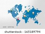 world map  | Shutterstock .eps vector #165189794