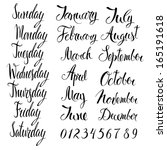days of the week  months  and... | Shutterstock .eps vector #165191618