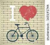illustration bicycle over...   Shutterstock .eps vector #165191744