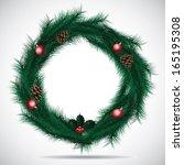 christmas wreath frame. jpg. | Shutterstock . vector #165195308