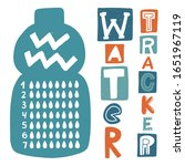 Water Tracker Balance Vector...