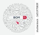 bom mean  bill of materials ... | Shutterstock .eps vector #1651970839