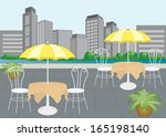 outdoor cafe  | Shutterstock .eps vector #165198140