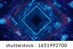 3d render rhombus futuristic... | Shutterstock . vector #1651992700