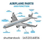 airplane parts and functions ... | Shutterstock .eps vector #1652016856