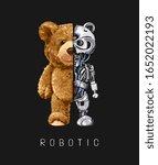Bear Toy Half Robot...