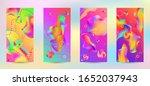 trendy creative vector space... | Shutterstock .eps vector #1652037943