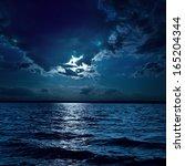 Moon Light Over Darken Water I...