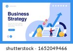 web page design with business... | Shutterstock .eps vector #1652049466