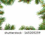 christmas green framework... | Shutterstock . vector #165205259