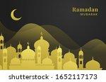 ramadan kareem. greeting... | Shutterstock .eps vector #1652117173