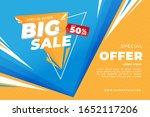 big sale discount banner... | Shutterstock .eps vector #1652117206