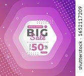 big sale discount banner... | Shutterstock .eps vector #1652117209