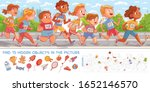 children run marathon. find 15... | Shutterstock .eps vector #1652146570