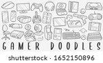gamer computer doodle line art... | Shutterstock .eps vector #1652150896
