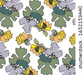 floral background for textiles. ... | Shutterstock .eps vector #1652153440