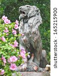 Statue Of Hunted Lion In The...