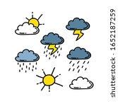 weather doodle icon  vector... | Shutterstock .eps vector #1652187259