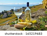 wine and cheese. lavaux region  ...   Shutterstock . vector #165219683