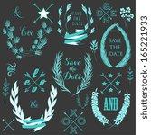 wedding graphic set  arrows ... | Shutterstock .eps vector #165221933