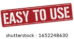 easy to use sign or stamp on... | Shutterstock .eps vector #1652248630