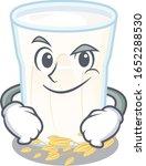 cool oats milk mascot character ... | Shutterstock .eps vector #1652288530
