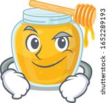 cool honey mascot character... | Shutterstock .eps vector #1652289193