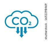 carbon dioxide vector icon or... | Shutterstock .eps vector #1652298469