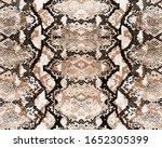 snake skin pattern  seamless... | Shutterstock .eps vector #1652305399