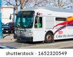 Muni Bus Shuttle Drives Over...