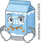 cool almond milk mascot... | Shutterstock .eps vector #1652321923