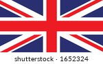 flag of great britain | Shutterstock . vector #1652324