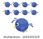 animal animation sequence blue... | Shutterstock .eps vector #1652331229