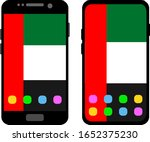 two black smartphones with a... | Shutterstock .eps vector #1652375230