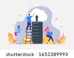 vector illustration  cloud...