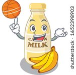 a mascot picture of cashew milk ... | Shutterstock .eps vector #1652398903