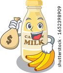 rich and famous cashew milk... | Shutterstock .eps vector #1652398909