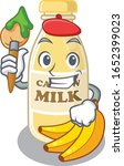a cute picture of cashew milk... | Shutterstock .eps vector #1652399023