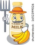 happy farmer cashew milk... | Shutterstock .eps vector #1652399026