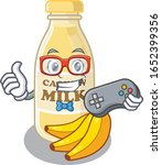 smiley gamer cashew milk... | Shutterstock .eps vector #1652399356